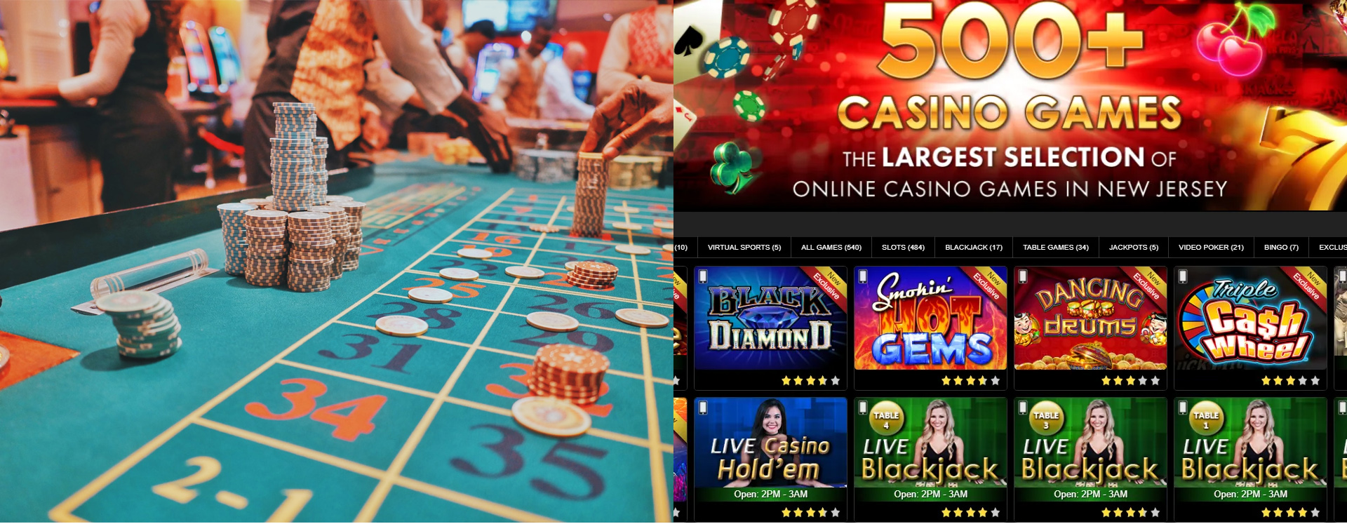 online or a land-based casino